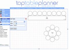 Online tool for mapping out events and table design. So cool!