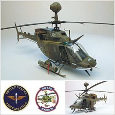 Kiowa Warrior  Bell OH-58D  1/35 (unknown author via Clubhyper.com)  #usinadoskits #udk #plastimodelismo #modelismo #passatempo #arte #art #weathering #usa #eua #army #aircraft #aeronave #helicoptero #hubschrauber #hobby #scalemodel #plasticmodel #kiowa #bell #maquette #maqueta