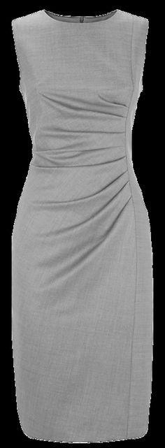 Max mara gray ruched dress