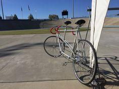 Schwinn paramount track tandem at the Giordiana velodrome in Rock Hill SC.