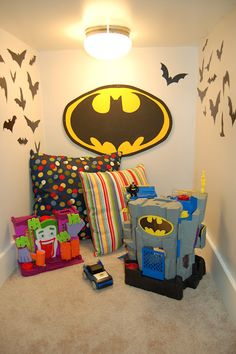 I Am Momma - Hear Me Roar: Cassie's house - the Playroom    Batcave under the stairs :)