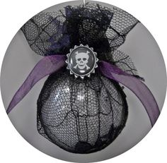 Gothic Christmas ornament by GrimAndGirly on Etsy