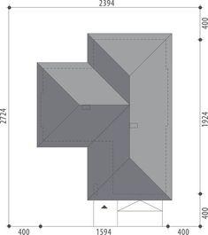 DOM.PL™ - Projekt domu FA Julia CE - DOM GC5-64 - gotowy koszt budowy Dom, Bar Chart, House Plans, How To Plan, Houses, Blueprints For Homes, House Design, Home Plans, Home Floor Plans