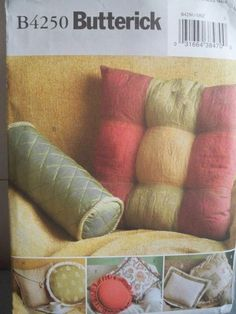 Butterick Pillow Pattern  Uncut by booksnnooks on Etsy