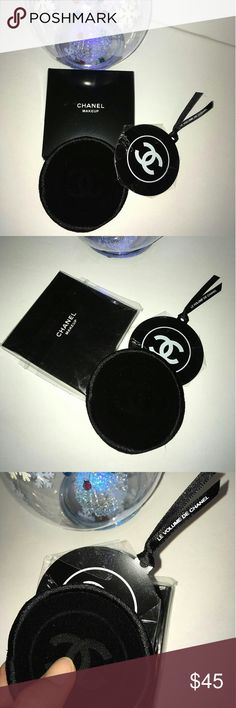 Authentic VIP gift pocket mirror Chanel Beauty Counter Gift Make up cosmetic Unbreakable  compact Mirror  (High gloss polished )  Black Stainless steel Mirror with velvet pouch .Thus was a VIP gift from Chanel Beauty counter, does Not come with hologram sticker, serial number, or tag*  The mirror size :6.5cm (Diameter) CHANEL Makeup