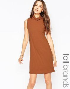 Glamorous Tall Roll Neck Sleeveless Dress