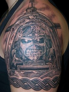 Detail Video of Iron Maiden Tattoo - YouTube  |Iron Maiden Somewhere In Time Tattoo