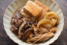 作りやすく野菜もうまい!肉豆腐のレシピ/作り方:白ごはん.com Home Recipes, Asian Recipes, Cooking Recipes, Ethnic Recipes, Main Dishes, Side Dishes, Food Porn, Daily Meals, Pulled Pork