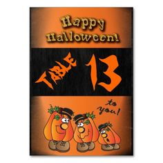 Table Card - Happy Halloween Table Card