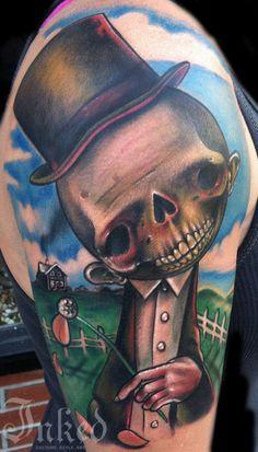 Creepy, yet cute by Johnny Smith #InkedMagazine #cute #creepy #tattoo #tattoos #Inked #Ink