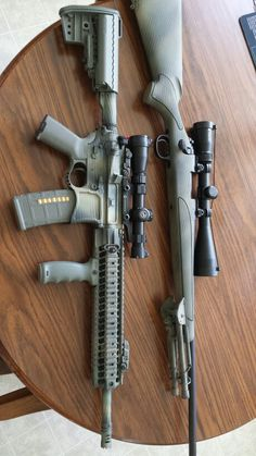 Wanted to share with my pinterest friends my own personal AR and Rem 700 after my paint project yesterday. #406