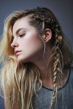 One of our favorite festival hair style inspirations! Get the look on ShopStyle