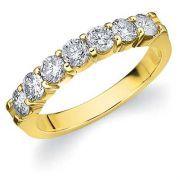 7 DIAMANTS SERTIE 2 GRIFFES OR JAUNE #alliancedemariage #diamant #baguediamant #solitairediamant