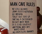 MAN CAVE RULES Sign - Father's Day