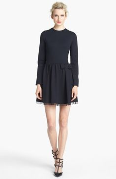 bow detail jersey dress / red valentino