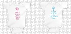 Keep Calm Twin Shirts - Stuff 4 Multiples