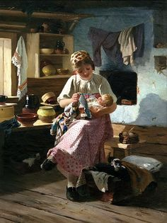 Ivan Pelevin - Firstborn. 1888. 900 Classic russian paintings