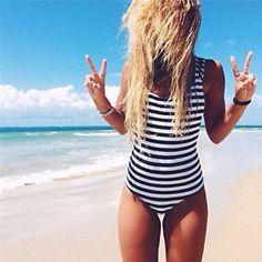 Monokini Stripe. Swimwear 2018