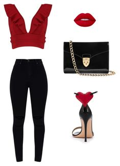 """""""fashion  inspiration Lubica"""" by ludmila01-1 on Polyvore featuring Boohoo, Lime Crime, Gianvito Rossi and Aspinal of London"""