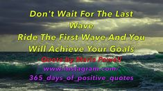 (Quotes Waves Ocean) Day 65 - 365 Days Of Motivational Quotes & Videos -...