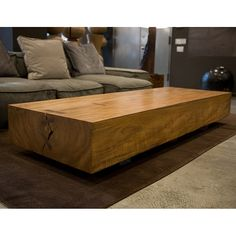 Solid Teak Coffee Table At Hudson Furniture Mobilia Natural Wood