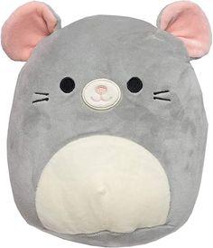 """Amazon.com: Squishmallows 8"""" Plush Mouse: Toys & Games Kawaii Plush, Cute Plush, Pillow Pals, Cute Pillows, Fluffy Pillows, Cute Stuffed Animals, Squishies, Cute Toys, Animal Pillows"""