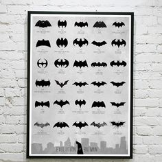 Batman Logo Evolution Poster! Even Super Heroes have their logo reworked to fit int the times!