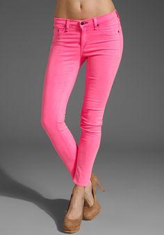 Neon pink skinnies