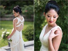 #bridalmakeup #dramaticmakeup #smokeyeyes Dramatic Asian bridal makeup with smokey eyes and deep pink lips.