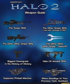 Weapon Guide Biggest Downgrade in the History of History - iFunny :) Video Game Memes, Video Games Funny, Funny Games, Funny Gaming Memes, Gamer Humor, Halo Funny, Halo Mega Bloks, Halo Spartan, Halo Armor