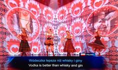 Poland provided really useful drinking advice. | The 24 Most Important Moments From Eurovision 2014
