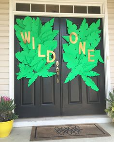 "Front door decoration ""A Wild One"" Where the Wild Things Are First Birthday Party ."