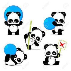 cute panda illustrations - Google Search