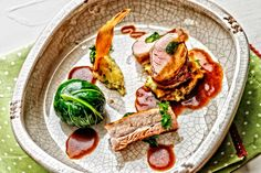 Pork loin, belly and stuffed cabbage leaf by the talented Rob Owen at Creed Food Services