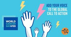 """February 2018 - World Cancer Day - February 2018 is World Cancer Day. This year's theme is """"We Can, I Can"""", with the hashta - Chemo Brain, Social Media Poster, Trending Hashtags, Brain Cancer Awareness, World Cancer Day, World Population, Cancer Support, Social Media Channels, Call To Action"""
