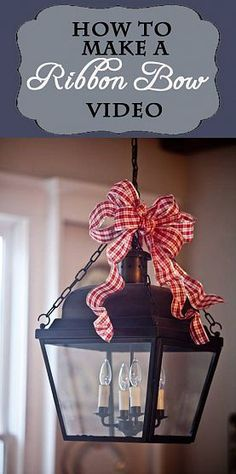 How to Make a Ribbon Bow ~ Video