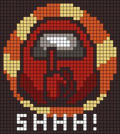 Easy Perler Bead Patterns, Melty Bead Patterns, Perler Bead Templates, Diy Perler Beads, Perler Bead Art, Minecraft Pixel Art, Minecraft Designs, Pixel Pattern, Pattern Art
