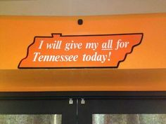 """""""I will give my all for Tennessee today!"""