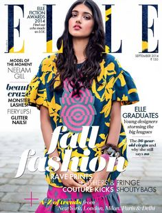Neelam Gill - Elle Magazine Cover [India] (September 2014)