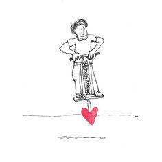 The Secret Life of Love. Day #290. #pogo #sketch #sketchaday #illustration