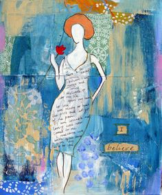 Original Mixed Media Painting by Fiona Hill titled by FionaHillArt, $75.00