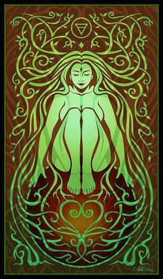 "Elements Earth:  ""Earth Spirit,"" by Cristina McAllister."