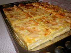 pita sa tikvicama i sirom Bulgarian Recipes, Croatian Recipes, Kiflice Recipe, Baking Recipes, Dessert Recipes, Desserts, Bread Dough Recipe, Macedonian Food, Kolaci I Torte