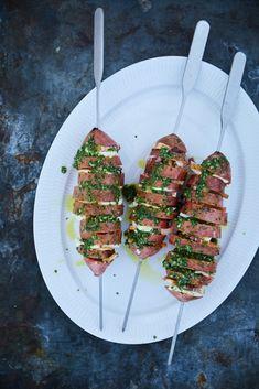 Salad Recipes, Snack Recipes, Healthy Recipes, Healthy Food, Pesto, Grill Party, Bacon, Skinny Recipes, Creme