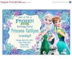 ON SALE Frozen Fever Invitation Frozen Birthday by CupcakeTops