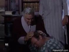 Pa, Hoss, and Joe (poking the bump on Hoss' head! Ha Ha Ha!!!)