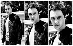 Sheldon Cooper....looking a little different than when he is on The Big Bang. Oh my word. I don't care if he's gay, I'd make out with him!