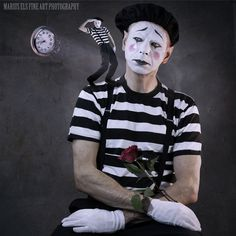 The Science of Time Travel - Do you catch time or do you sit and watch time fly past?  This is my last image in the tribute to mime artist Marcel Marceau, someone that was a hero in the war and travelled the world entertaining.  He seemed to have held time in his hand and made every second count.  Through his mime he faces time with all its glory and sadness. Marcel Marceau could also make time stand still with his compelling performances.  Marcel Marceau, March 22, 1923 -  September 22…