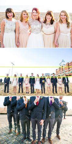 Mismatched Bridesmaids Neutral Cream Gold Metallic (mcfly wedding)