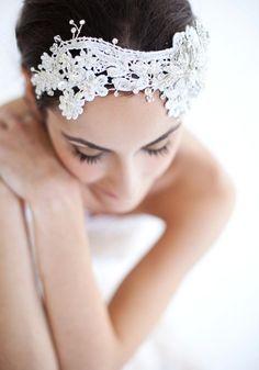 Jackie Lace Headpiece - by MarisolAparicio